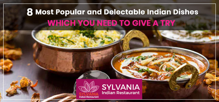 8 most popular and delectable Indian dishes which you need to give a try