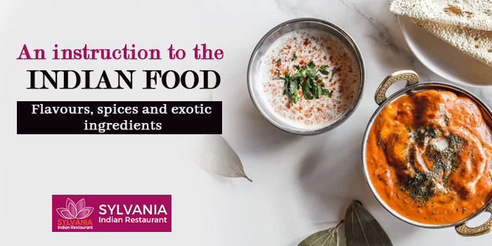 An instruction to the Indian food - Flavours, spices and exotic ingredients